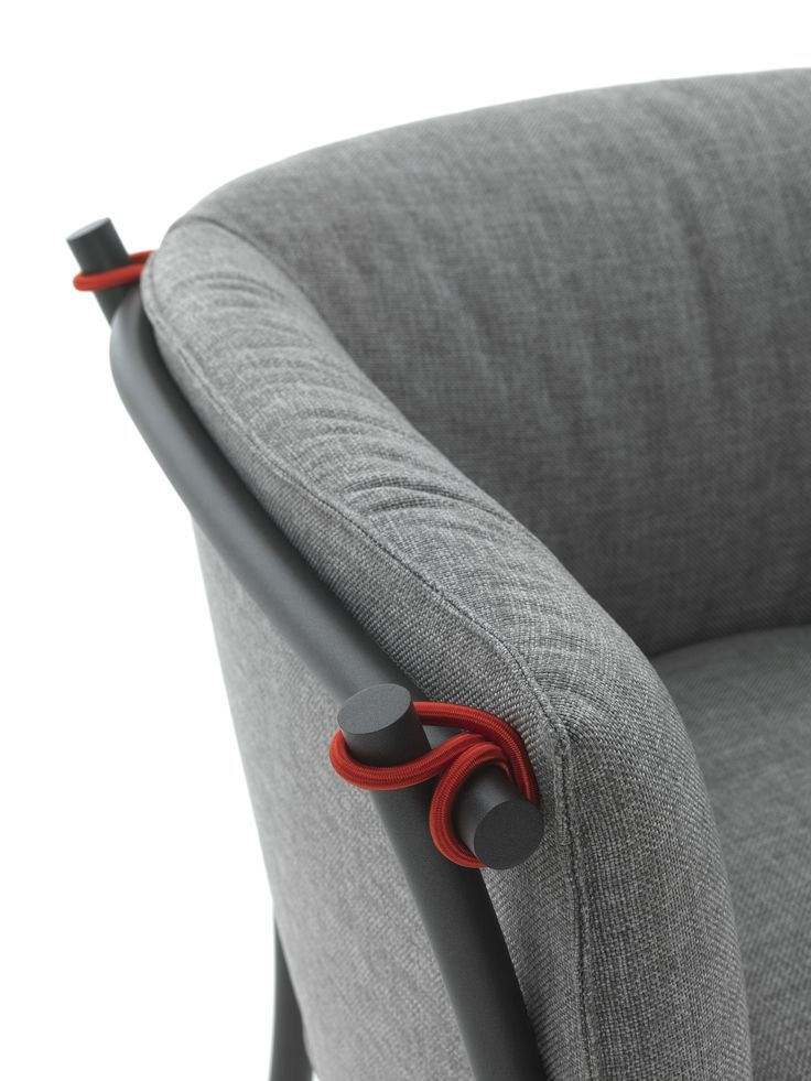 Collezione Smeralda by Anna von Schewen for DE PADOVA. Another example of elastic. Rolled up sections could be held in place using continuous pieces of elastic. This could also be achieved using ratchet straps.