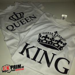 Set Tricouri Personalizate, King & Queen