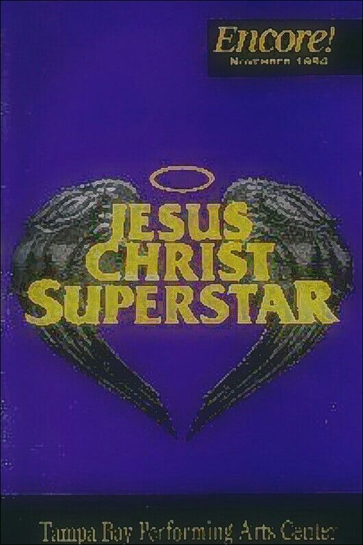 """Tampa Bay, Florida Premiere of the 1992 Touring Revival of Tim Rice and Andrew Lloyd Webber's musical """"Jesus Christ Superstar"""" ...  National Tour ... November 22 - 27, 1994 ... Carl Anderson and Ted Neeley starred in this production ... Scenic Design by Bill Stabile ...  Choreographed and Directed by Tony Christopher"""