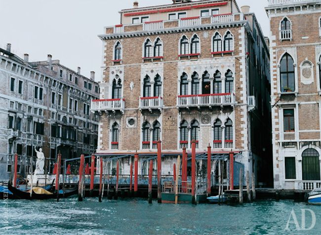 A glimpse at the beautiful 18th-centuryBauer IL Palazzo hotel in Venice,located alongthe Grand Canal in the heart of the city … photos by Noel Hepp for Architectural Digest. x debra  follow on bloglovin'