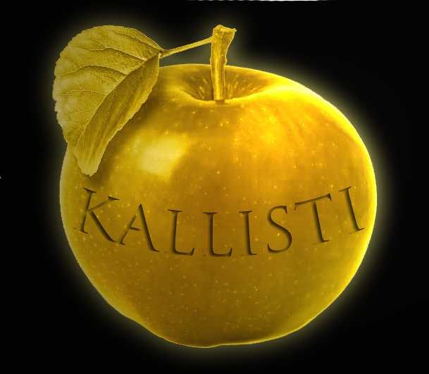 Eris's Golden Apple of Discord. Kallisti= Most beautiful.