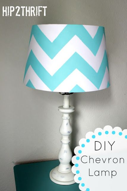 How to make your own chevron lamp