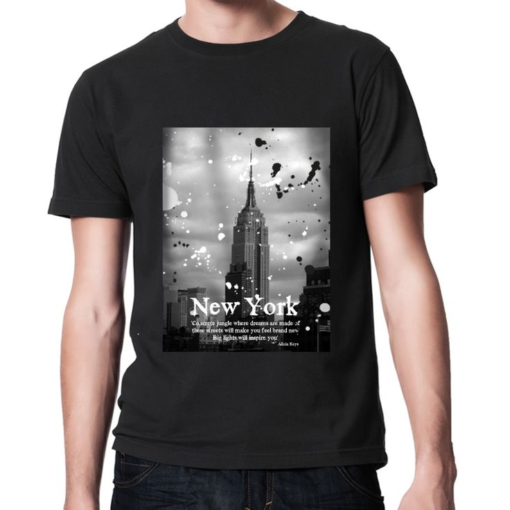 """New York vintage tshirt inspired from Alicia Keys song : Empire state of mind  """"Concrete jungle  where dreams are made of  these streets will  make you feel brand new  big lights will inspire you""""                Alicia Keys    (photo by Caroline Rovithi : www.carolinerovithi.com)    VINTAGE WASHED T-SHIRT  100% Certified Organic Cotton  Jersey 155 g/m2  35,00 €"""