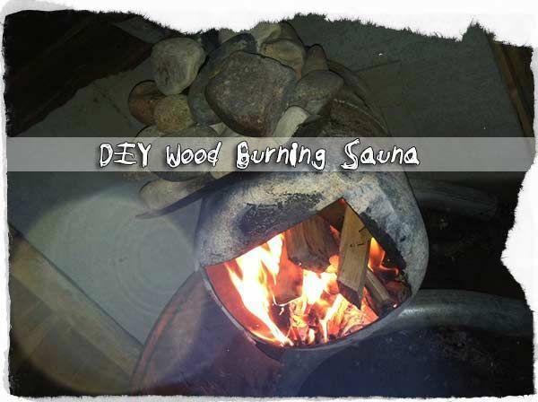 DIY Wood Burning Sauna. I need this badly.