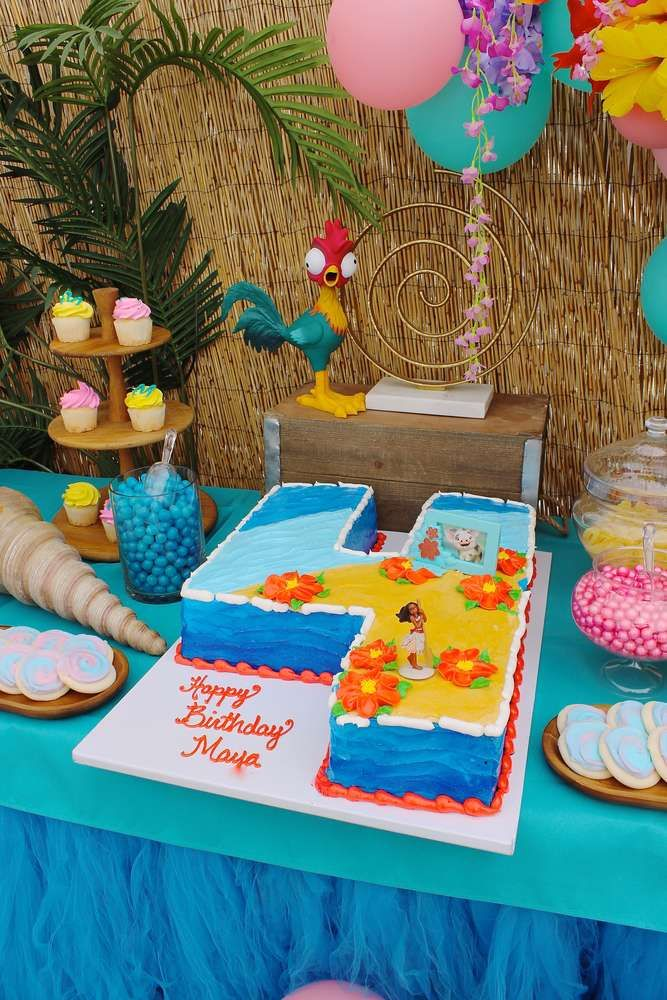 Loving The Birthday Cake At This Beautiful Moana Party See More Ideas And Share Yours CatchMyParty Catchmyparty Partyideas