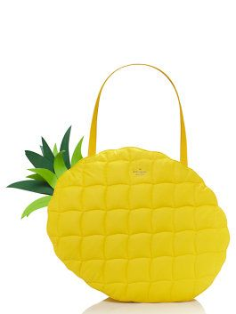 fact: it's impossible to hold an oversized pineapple tote without smiling. (june, 2015)