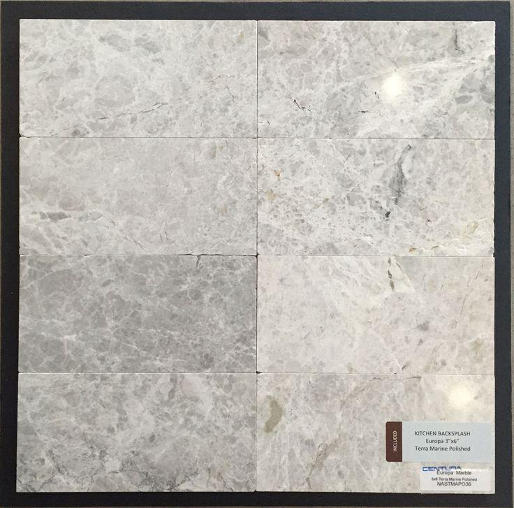 Included Kitchen Backsplash Tile - Europa 3x6 - Terra Marine Polished