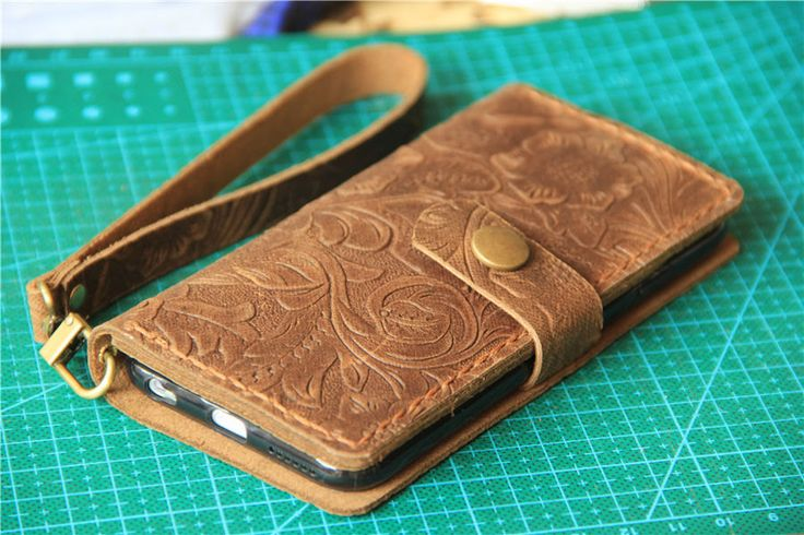 wristlet iphone 6s case leather iPhone 6 wallet by CollLeatherShop