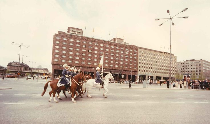 Sheraton Stockholm, Changing of the Guards 1972.