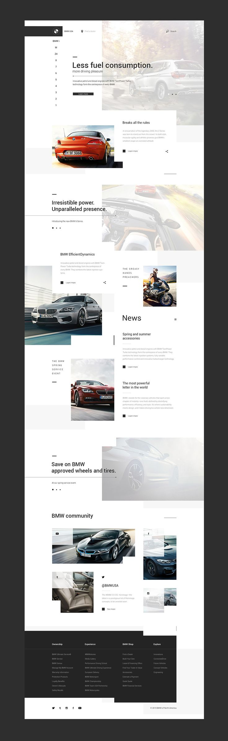 BMW USA website concept on Behance