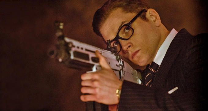 Taron Egerton as Eggsy in Kingsman: The Secret Service. This boy scrubbed out well with Galahad's mentoring!