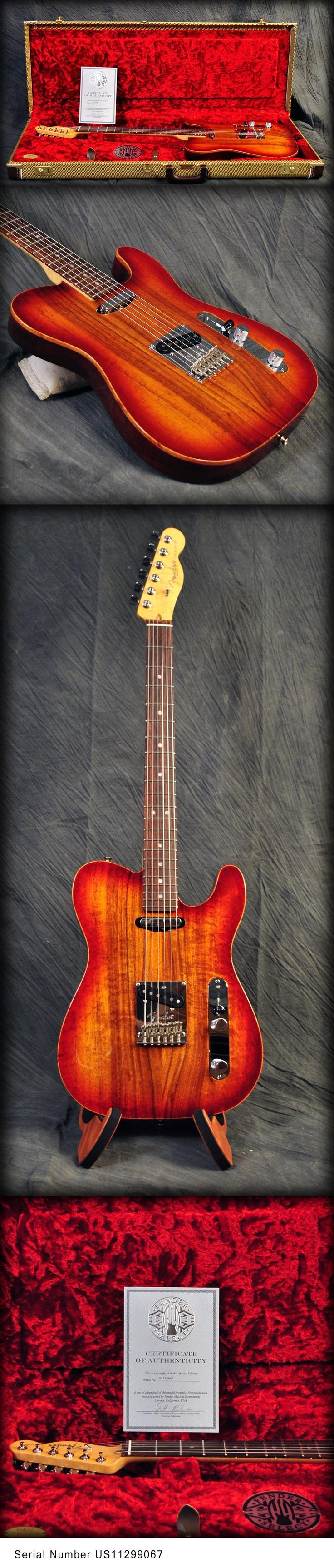 Fender Select Telecaster Craved Top Koa