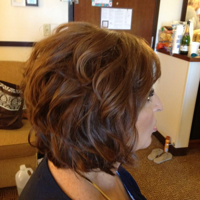 Mother of the bride hair, fancy short hair