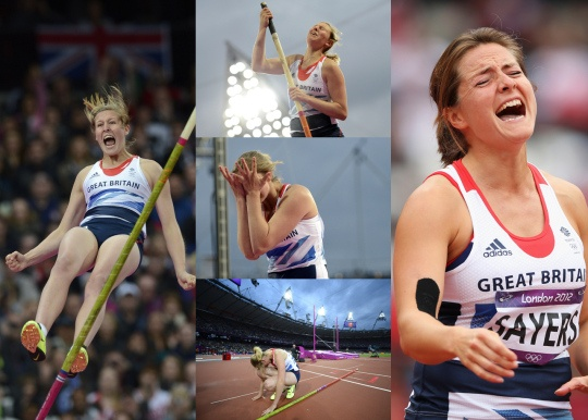 Goldie Sayers of Great Britain reacts after failing to qualify for the Women's Javelin Throw