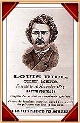 The Red River Rebellion.    In 1869 a rebellion occurred involving Louis Riel and the Red River Métis as they wanted to retain the settlements occupants rights. Riel set up a provisional government to create negotiations with the settlers. The Manitoba Act was eventually created and protects many Aboriginals rights today.