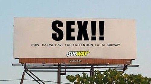 Grunt to przyciągnąć uwagę. A jak wiadomo… nic tak nie przyciąga jak seks. Sieć restauracji Subway postanowiła to wykorzystać.