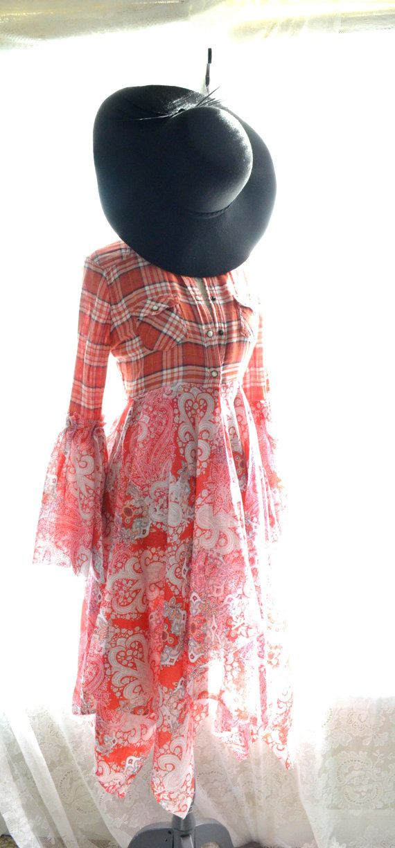 Gypsy tunic top, Bohemian tops, Boho tunic top, Bell sleeve tea stained shirt, French shabby cottage chic, floral blush, True rebel clothing