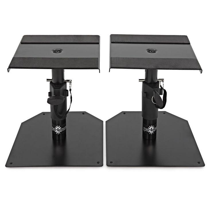 speakers desk. desktop monitor speaker stands by gear4music, pair speakers desk c