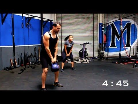 Full Body Kettlebell Workout for Beginners - YouTube  5 minute kettle bell routine