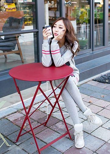 Korea Woman Big size clothing shop. [Jstyle] upgrade your Mini Training set / Size : L,XL / Price : 50.28 USD #dailylook #OOTD #JSTYLE #plussize #loosefit #large #xlarge #trainnigset