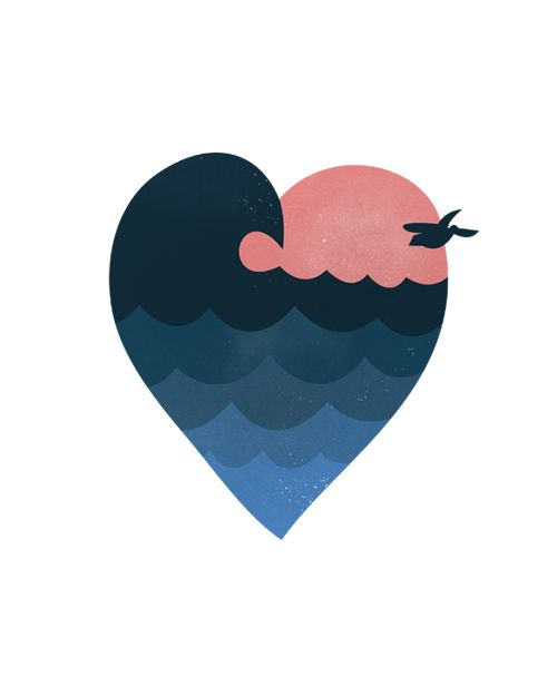 Like the heart and beach together