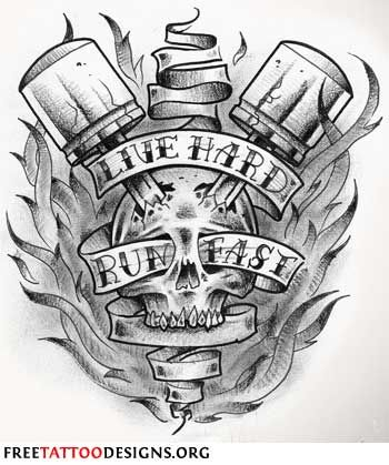 Biker Tattoos: Live Hard Run Fa st Tats make the best drawings