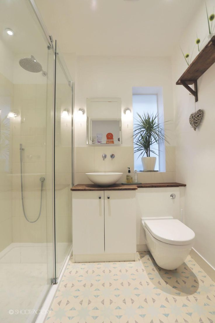 Small bathroom - take out a bath and put a shower in