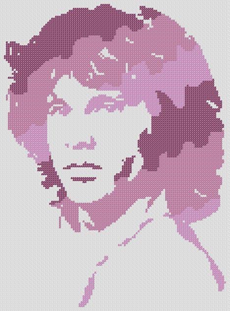 JIM MORRISON Purples PDF Cross Stitch Pattern by RetroLOOMINOTIONS, $4.20 Instant download.