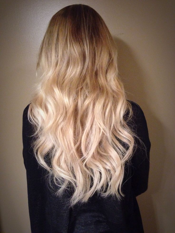 Long blonde sombre hair. Check out the Youtube link below on how to get this hairstyle!