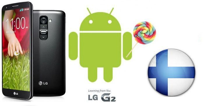LG G2 D802 Lollipop 5.0.2 Upgrade in Finland - Suomi