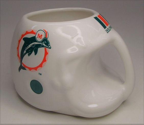 NFL+Miami+Dolphins+helmet+coffee+mug