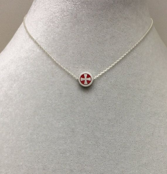 Cross Formy Red Necklace,Maltese Cross,St.John's Cross,Necklace,Baptism, RCIA, Confirmation,Religious gift, personalized Necklace