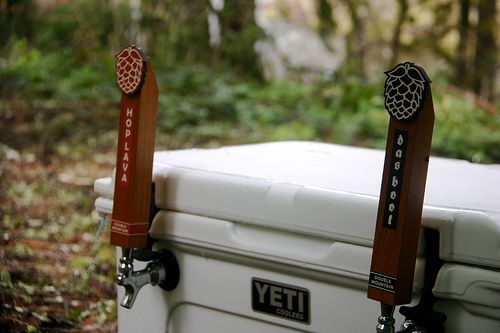 yeti cooler jockey box. double mountain