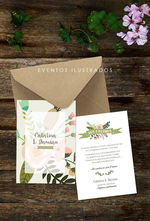 Invitaciones florales, bodas en primavera / verano. Diseño y amor van de la mano!