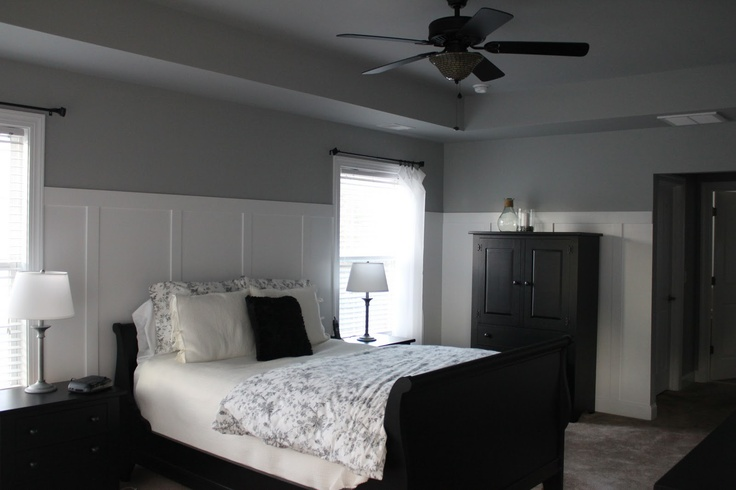 like the white panels with gray ceiling. i think that would look good with my big dark bed.