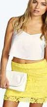 boohoo Hana All Over Crochet Mini Skirt - yellow azz07189 Steal the spotlight this season in micro minis, of-the- moment midis and floor-sweeping maxi skirts . Whether you stick to separates or go matchy-matchy in a co-ord crop top , a skirt is the starting  http://www.comparestoreprices.co.uk/skirts/boohoo-hana-all-over-crochet-mini-skirt--yellow-azz07189.asp
