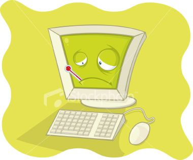 When a computer gets a virus it is like they are sick because they don't function right.