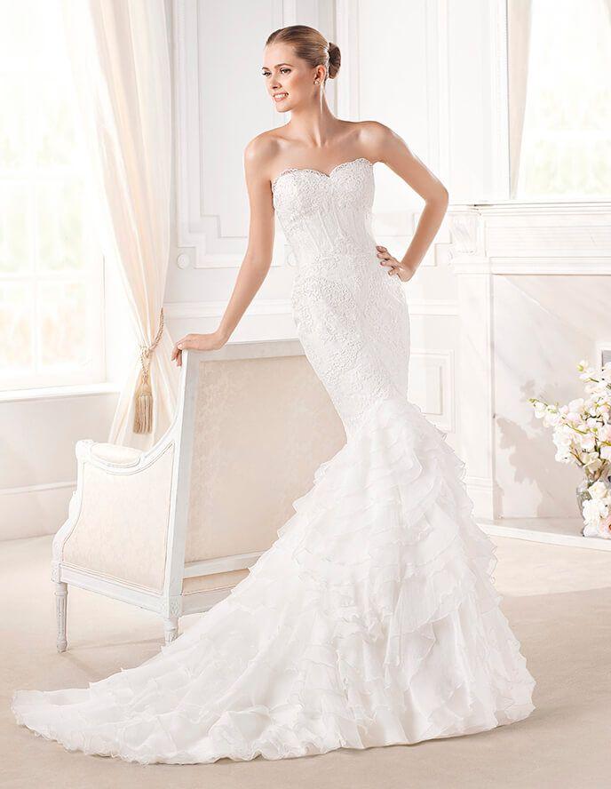 Elegant Dreams Floral Sweetheart La Sposa Wedding Dress in Eudora Style