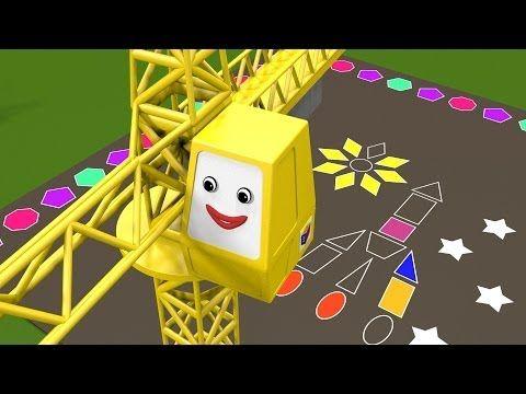 ▶ Les formes géométriques avec le train Tchou-Tchou - 2 ! Géometrie pour enfants Dessin animé éducatif - YouTube
