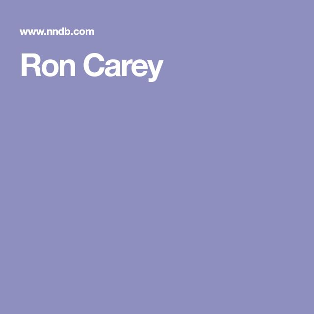 Ron Carey