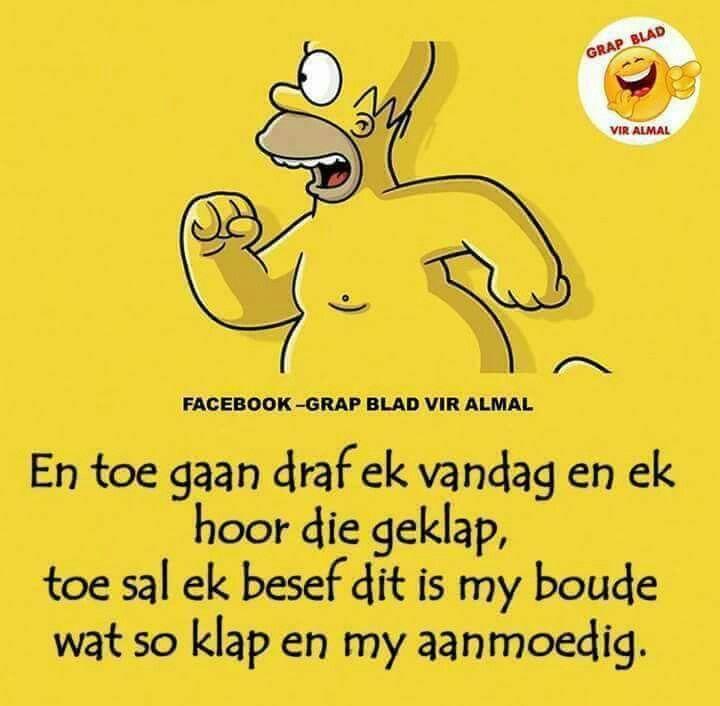 Draf-draf jou boude af... #Afrikaans Humor