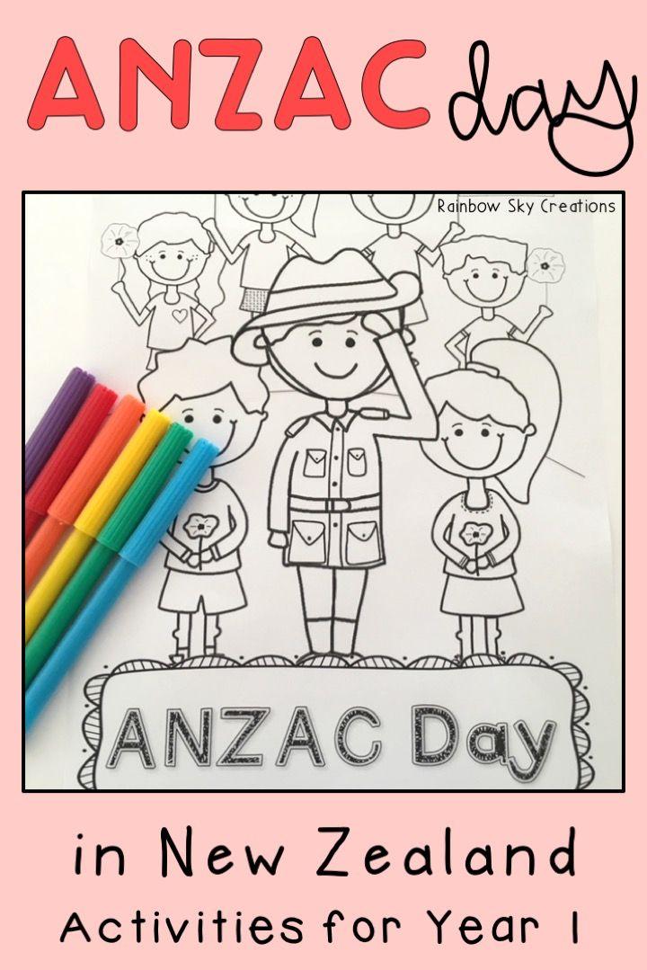 Nz Anzac Day Pack Year 1 Anzac Day Anzac Day For Kids Anzac