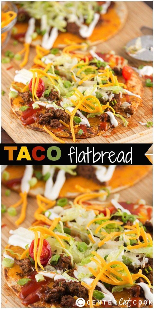 Taco Flatbread Pizza - a fun twist on taco night!