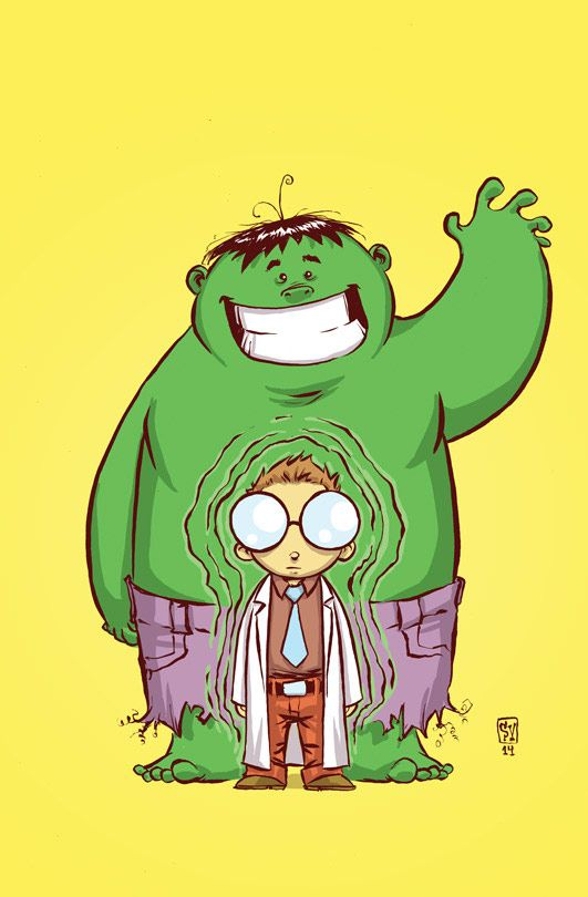 HULK #1 variant by Skottie Young. Just made me smile.