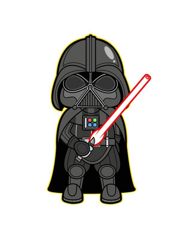 Star Wars Kawaii Saga (Fanart) by Kepala Kardus, via Behance