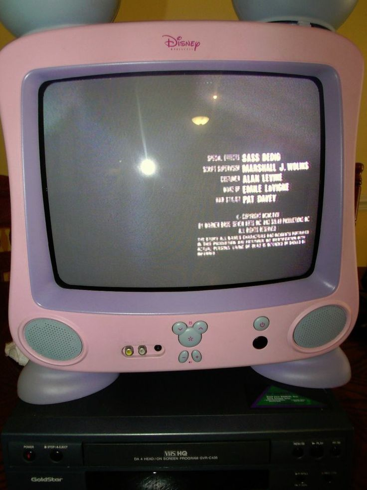 Disney Dt1300 P 13 Quot Crt Television Pink Princess Mickey
