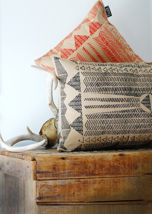 Bark Screen Printed Pillow #etsy