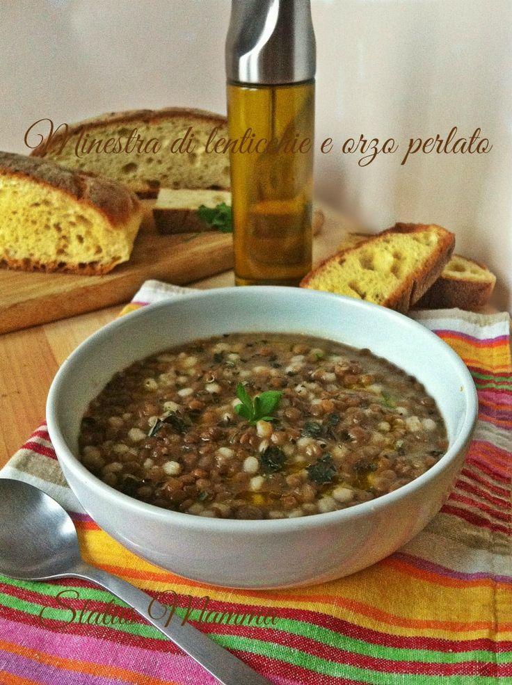 Minestra di lenticchie e orzo perlato ricetta primo piatto unico legumi verdure vegetariano vegano inverno freddo neve blogGz Giallozafferano Statusmamma blog foto
