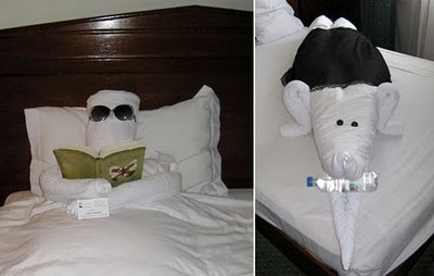 In bed facts around us: Animal Towel Sculptures | Towel folding Origami