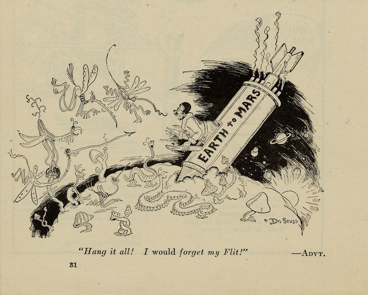 Advertisement for the insecticide Flit by Dr. Seuss ...